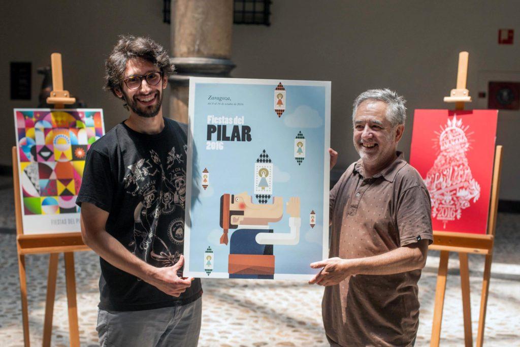 Tragachicos - Foto de Ayuntamiento de Zaragoza - Fue incluso el protagonista del Cartel de las Fiestas del Pilar 2016 diseñado por Miguel Frago y Samuel Aznar