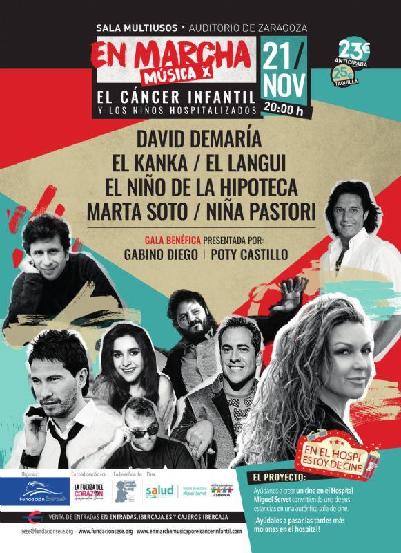 Concierto benéfico contra el cáncer infantil - Cartel de ¡En Marcha! Música x el cáncer y los niños hospitalizados en el Auditorio de Zaragoza