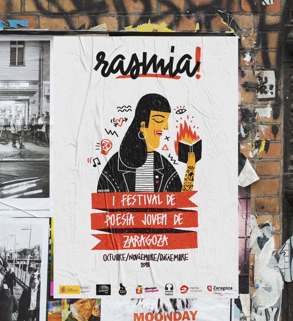 Rasmia! Primer Festival Poesía Joven de Zaragoza - Cartel de Rasmia! El primer Festival de Poesía Joven de Zaragoza 2018