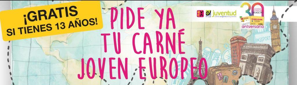 30 Aniversario del Carné Joven Europeo - Gratis durante un año para jóvenes de 13 años por la celebración del 30 aniversario del Carné Joven en Aragón