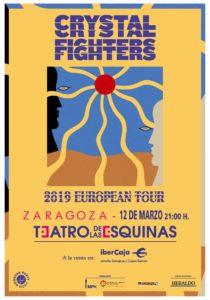 Crystal Figthers en Zaragoza - La banda londinense vuelve a dejarse caer por Aragón en el Teatro de las Esquinas de Zaragoza este 12 de marzo de 2019