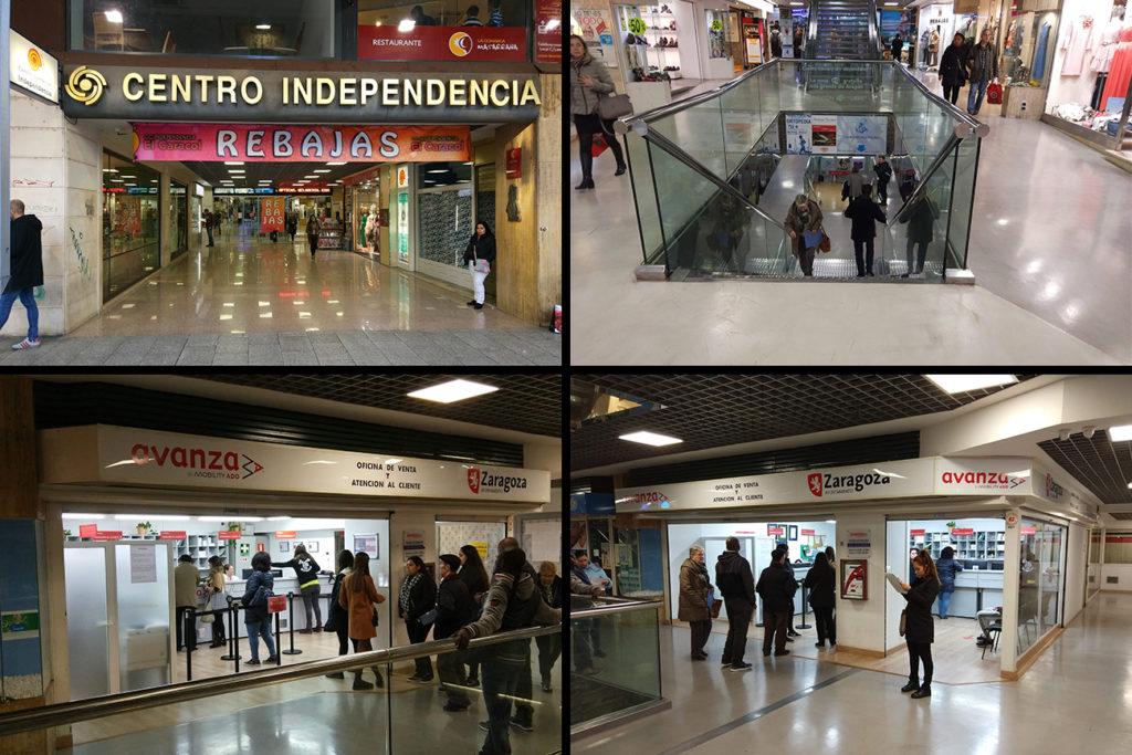 Moverte en autobús por Zaragoza - La oficina de Atención al Cliente del Grupo Avanza está situada el Centro Comercial Independencia (El Caracol) en el Paseo Independencia 24-26, planta -1