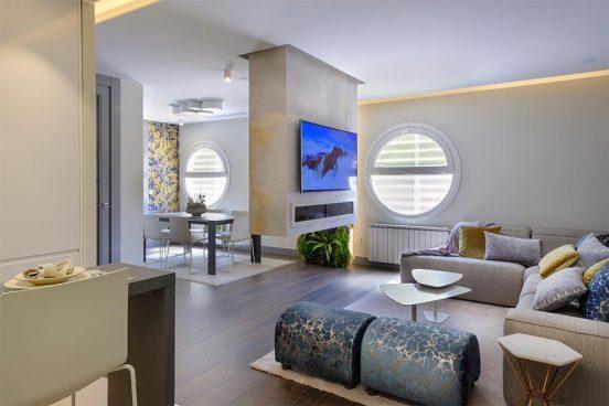 Decoración de interiores en Zaragoza - Viento en popa, a toda vela, una mezcla de elegancia y lujo hasta conseguir la mínima expresión y máxima funcionalidad Angélica Escolano