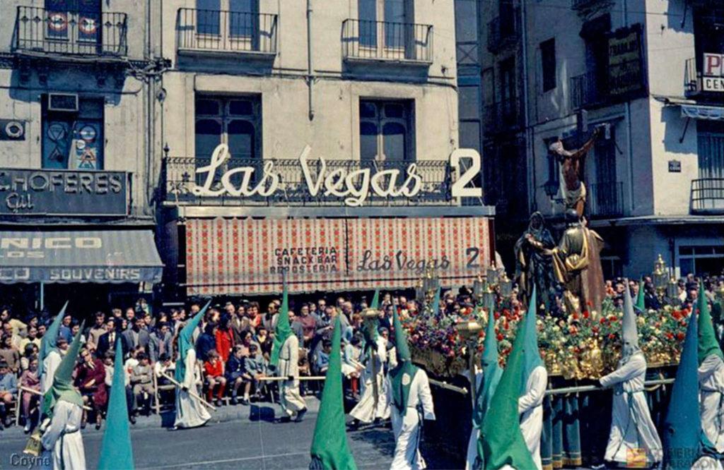 Foto Gran Archivo Zaragoza Antigua - Calle Mártires historia de la Semana Santa en Zaragoza 1972