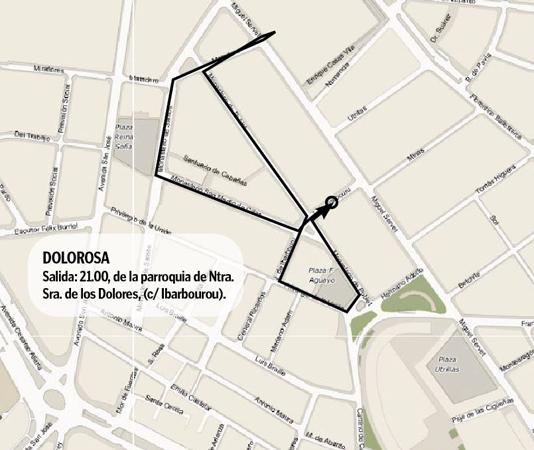Procesión del Vía Crucis de la Dolorosa - 21.00 - Lunes Santo - Semana Santa en Zaragoza 2019
