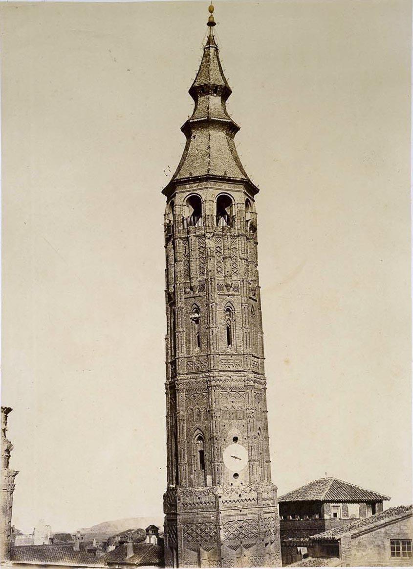 Foto de Charles Clifford de la Torre Nueva de Zaragoza allá por el año 1.860 hecho en albúmina sobre papel  Museo del Prado
