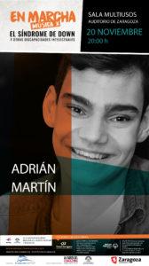 Adrián Martín encabeza la nueva gala solidaria de '¡En Marcha! Música x el Síndrome de Down y otras discapacidades intelectuales'