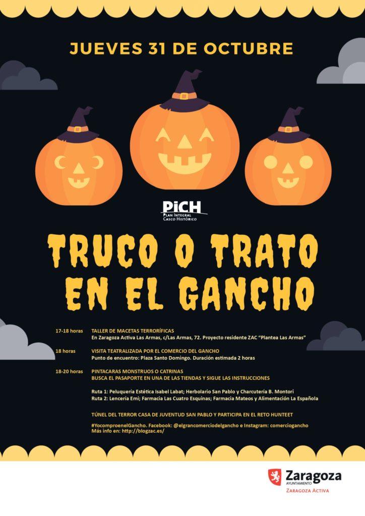 Programa de actividades para este Halloween en el barrio San Pablo - Truco o trato en El Gancho