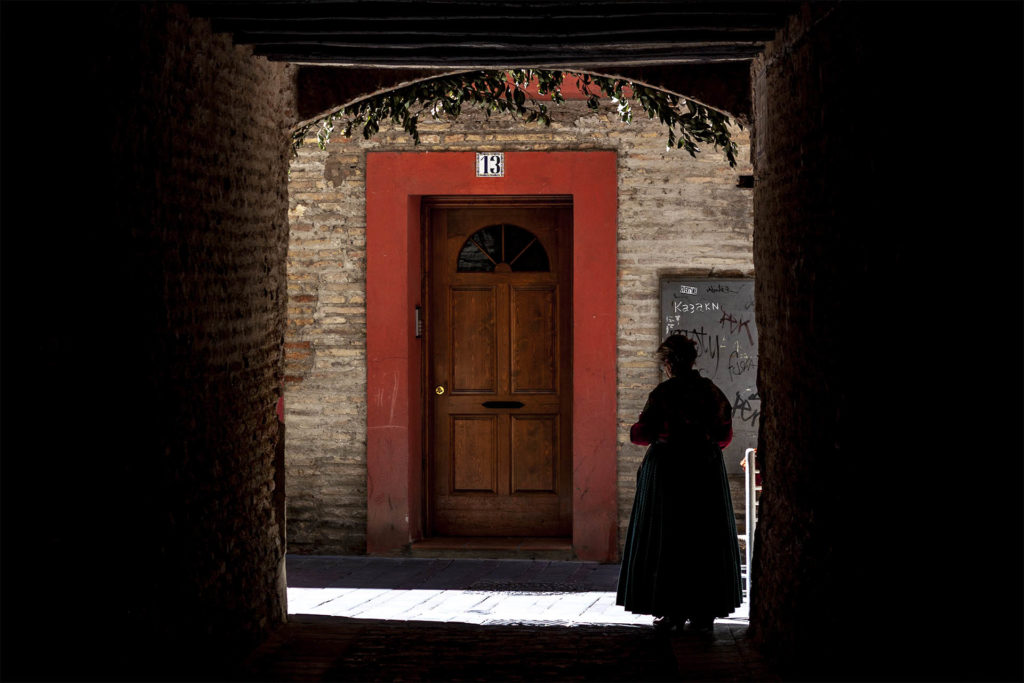 Barrio de Zaragoza: el Arrabal, callejón del Tío Lucas